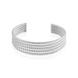 Bracelet Jonc Acier Blanc Anthonyn - Bracelets fantaisie Femme | Histoire d'Or