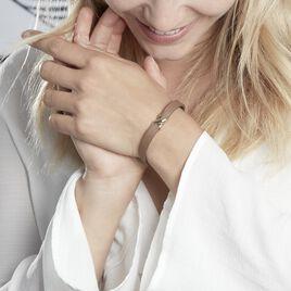 Bracelet Laetus Acier Jaune - Bracelets Croix Femme | Histoire d'Or