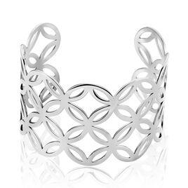Bracelet Jonc Danyl Acier Blanc - Bracelets fantaisie Femme | Histoire d'Or