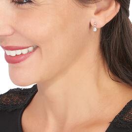 Boucles D'oreilles Pendantes Alisonne Or Rose Oxyde De Zirconium - Boucles d'oreilles pendantes Femme   Histoire d'Or