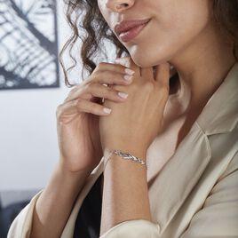 Bracelet Andeol Argent Blanc Oxyde De Zirconium - Bracelets Plume Femme | Histoire d'Or