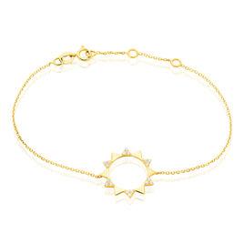 Bracelet Albanne Or Jaune Oxyde De Zirconium - Bijoux Femme | Histoire d'Or
