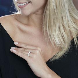 Solitaire Accompagne Or Blanc Stockholm Diamant Synthetique - Bagues avec pierre Femme   Histoire d'Or
