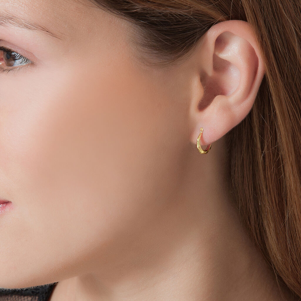 Créoles Heloise Fil Facette Or Jaune - Boucles d'oreilles créoles Femme   Histoire d'Or