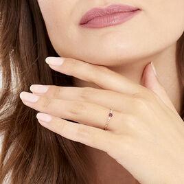Bague Nora Or Rose Rhodolite Et Oxyde De Zirconium - Bagues avec pierre Femme | Histoire d'Or