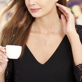 Collier Amayes Argent Blanc Oxyde De Zirconium - Colliers Coeur Femme   Histoire d'Or