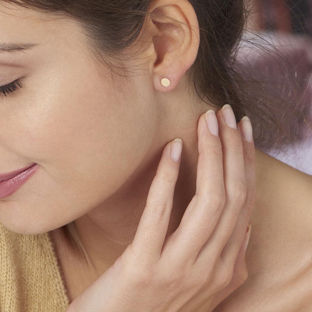 Boucles D'oreilles Puces Genovera Or Jaune - Clous d'oreilles Femme | Histoire d'Or