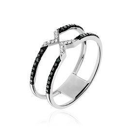 Bague Metisse Or Blanc Diamant - Bagues avec pierre Femme | Histoire d'Or