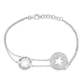 Bracelet Ambre Argent Blanc Oxyde De Zirconium - Bijoux Etoile Femme | Histoire d'Or