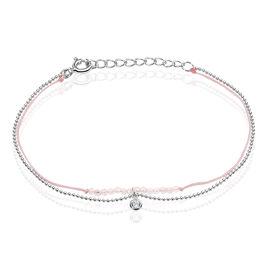 Bracelet Rafaela Argent Blanc Quartz - Bracelets cordon Femme | Histoire d'Or