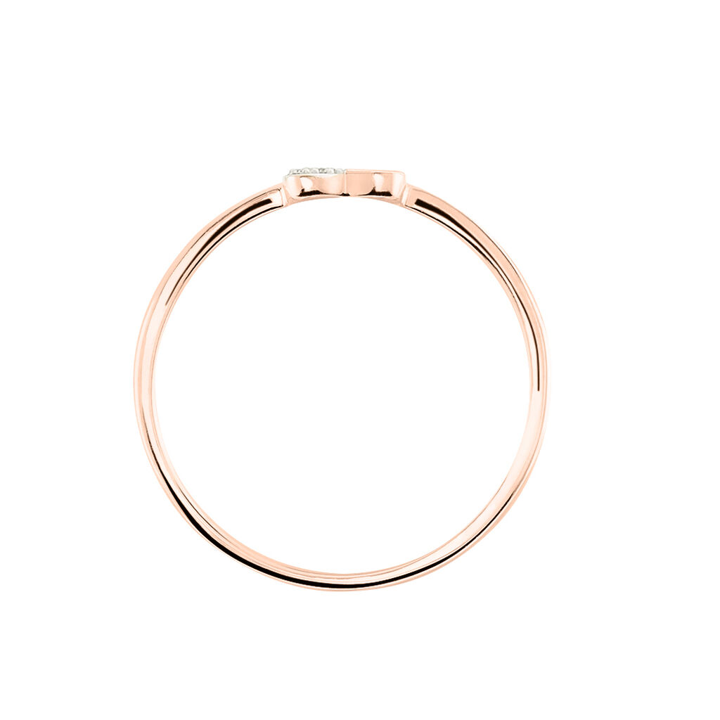Bague Emilia Or Rose Diamant - Bagues Coeur Femme   Histoire d'Or