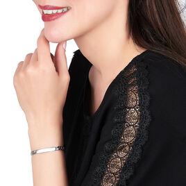 Bracelet Identité Clementine Maille Gourmette Argent Blanc - Gourmettes Femme | Histoire d'Or