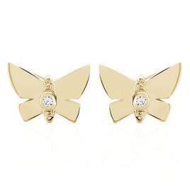 Boucles D'oreilles Plaque Or Lili - Boucles d'Oreilles Papillon Femme   Histoire d'Or