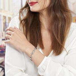 Bracelet Thuya Acier Blanc - Bracelets Infini Femme | Histoire d'Or
