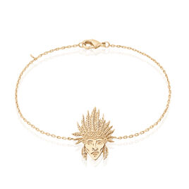 Bracelet Plaque Or Jaune - Bracelets fantaisie Femme | Histoire d'Or