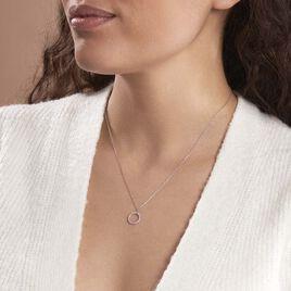 Collier Ambroisie Argent Blanc Oxyde De Zirconium - Colliers fantaisie Femme | Histoire d'Or