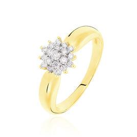 Bague Chou Or Jaune Diamant - Bagues avec pierre Femme | Histoire d'Or