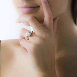 Bague Anne-marguerite Argent Blanc Perle D'imitation - Bagues avec pierre Femme   Histoire d'Or