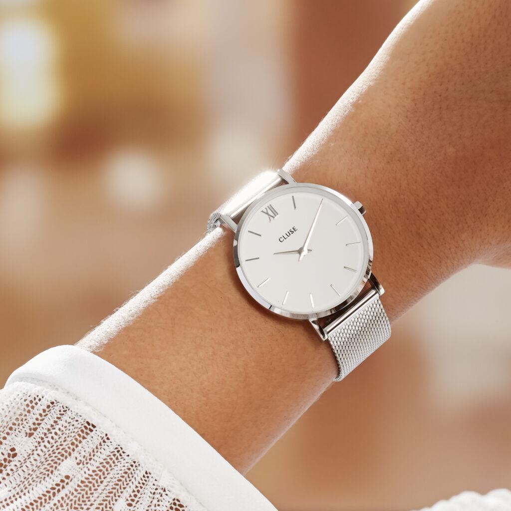 Montre Cluse Minuit Blanc - Montres tendances Femme | Histoire d'Or