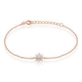 Bracelet Lorraine Argent Rose Oxyde De Zirconium - Bracelets fantaisie Femme   Histoire d'Or