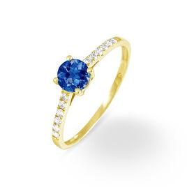 Bague Manon Or Jaune Saphir Et Diamant - Bagues avec pierre Femme | Histoire d'Or