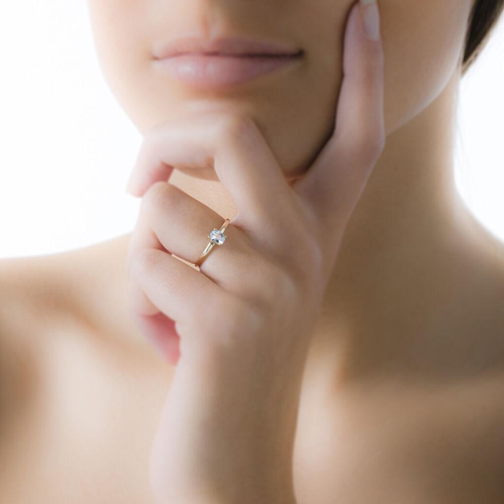 Bague Lily Or Jaune Saphir - Bagues avec pierre Femme | Histoire d'Or