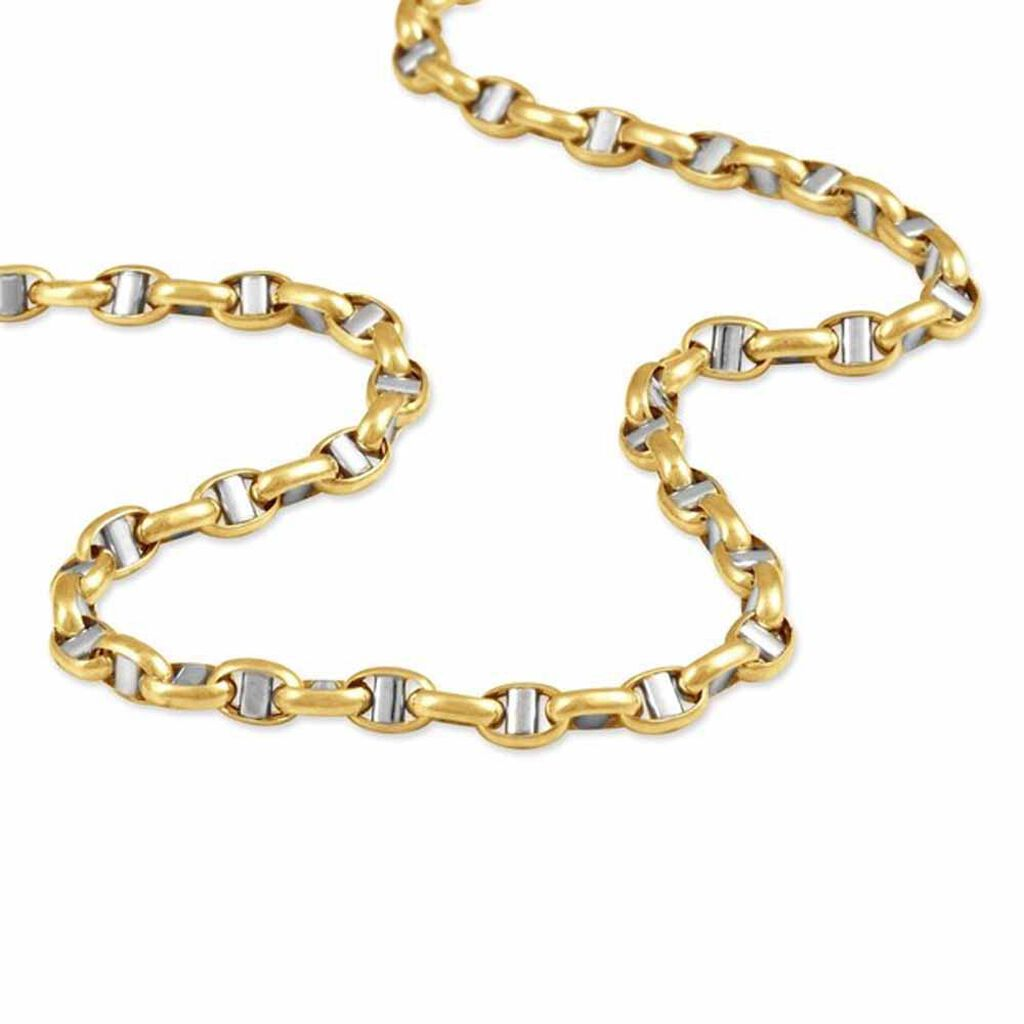 Chaîne Solveigae Maille Marine Or Bicolore - Chaines Femme   Histoire d'Or