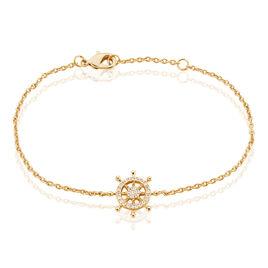 Bracelet Flavia Plaque Or Jaune Oxyde De Zirconium - Bracelets fantaisie Femme   Histoire d'Or