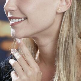 Boucles D'oreilles Puces Alphonsine Etoile De Mer Or Jaune - Boucles d'Oreilles Etoile Femme | Histoire d'Or