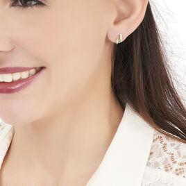 Boucles D'oreilles Puces Kirsten Or Jaune Agate - Clous d'oreilles Femme | Histoire d'Or