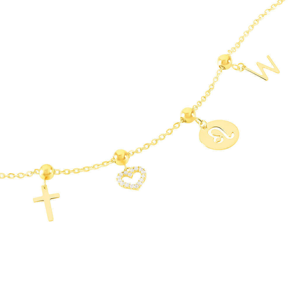 Charms Licinia Or Jaune - Pendentifs Croix Femme   Histoire d'Or