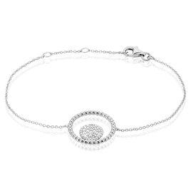 Bracelet Edwiga Argent Blanc Oxyde De Zirconium - Bracelets fantaisie Femme | Histoire d'Or