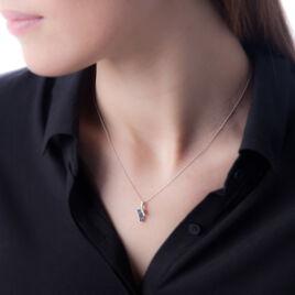 Collier Lilea Or Blanc Saphir Et Diamant - Bijoux Femme | Histoire d'Or