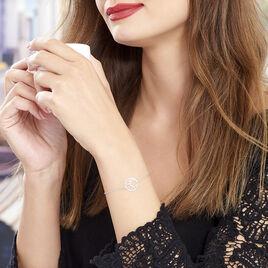 Bracelet Slorane Argent Blanc - Bracelets fantaisie Femme   Histoire d'Or