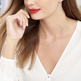 Collier Abigail Argent Blanc Oxyde De Zirconium - Colliers fantaisie Femme   Histoire d'Or