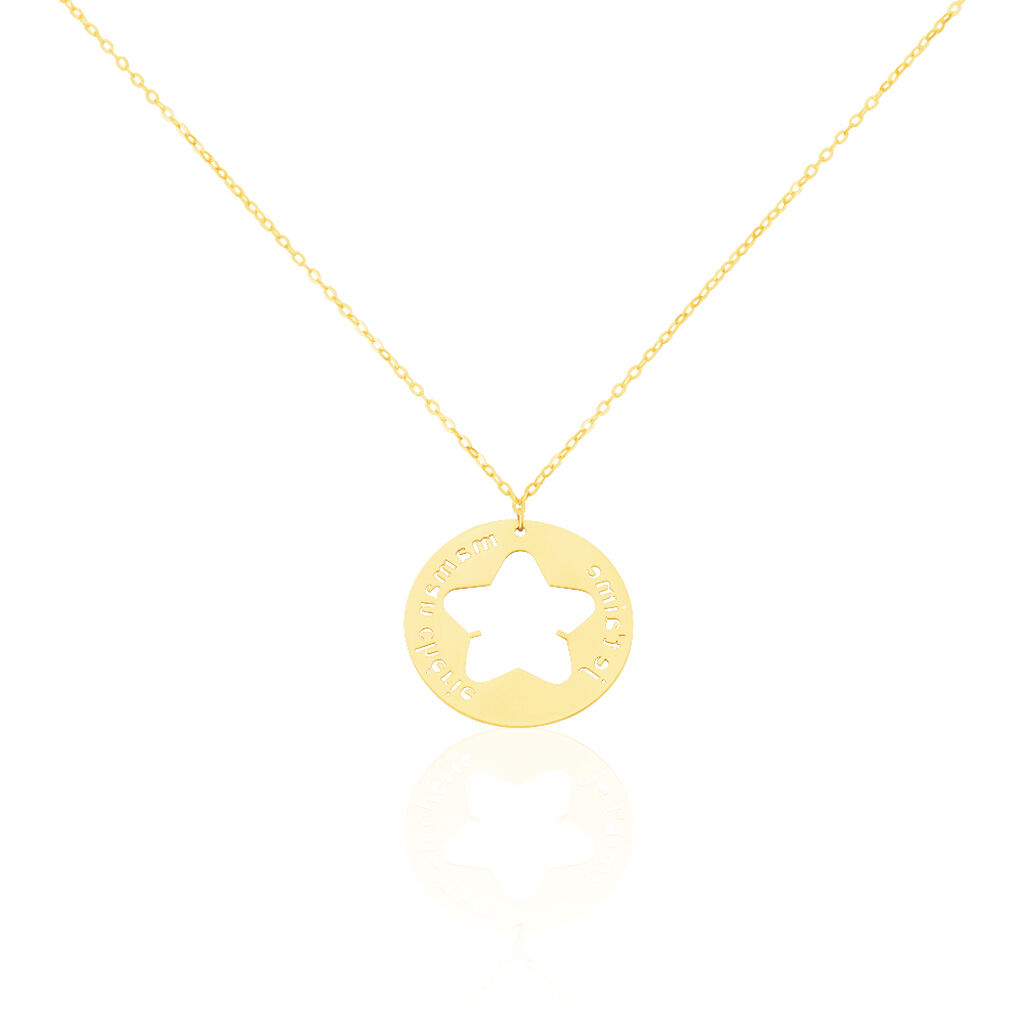 Collier Angelina Message Or Jaune - Colliers Etoile Femme   Histoire d'Or
