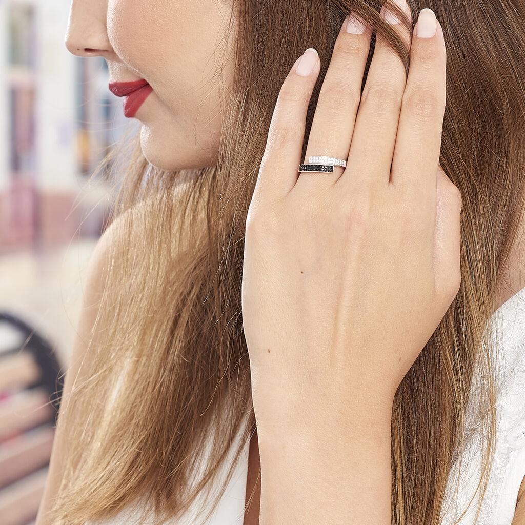 Bague Ouarida Argent Blanc Oxyde De Zirconium - Bagues avec pierre Femme | Histoire d'Or