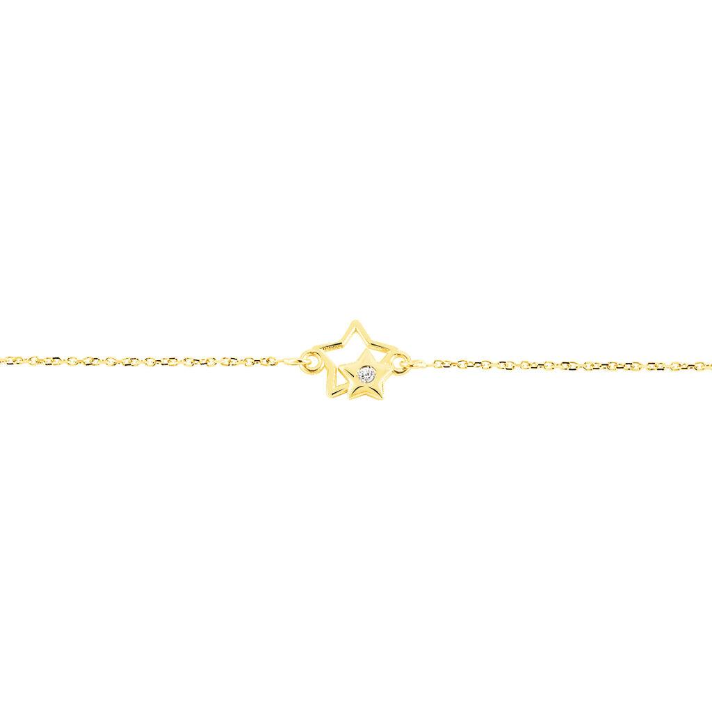 Bracelet Terentille Etoile Or Jaune Oxyde De Zirconium - Bracelets Naissance Enfant   Histoire d'Or