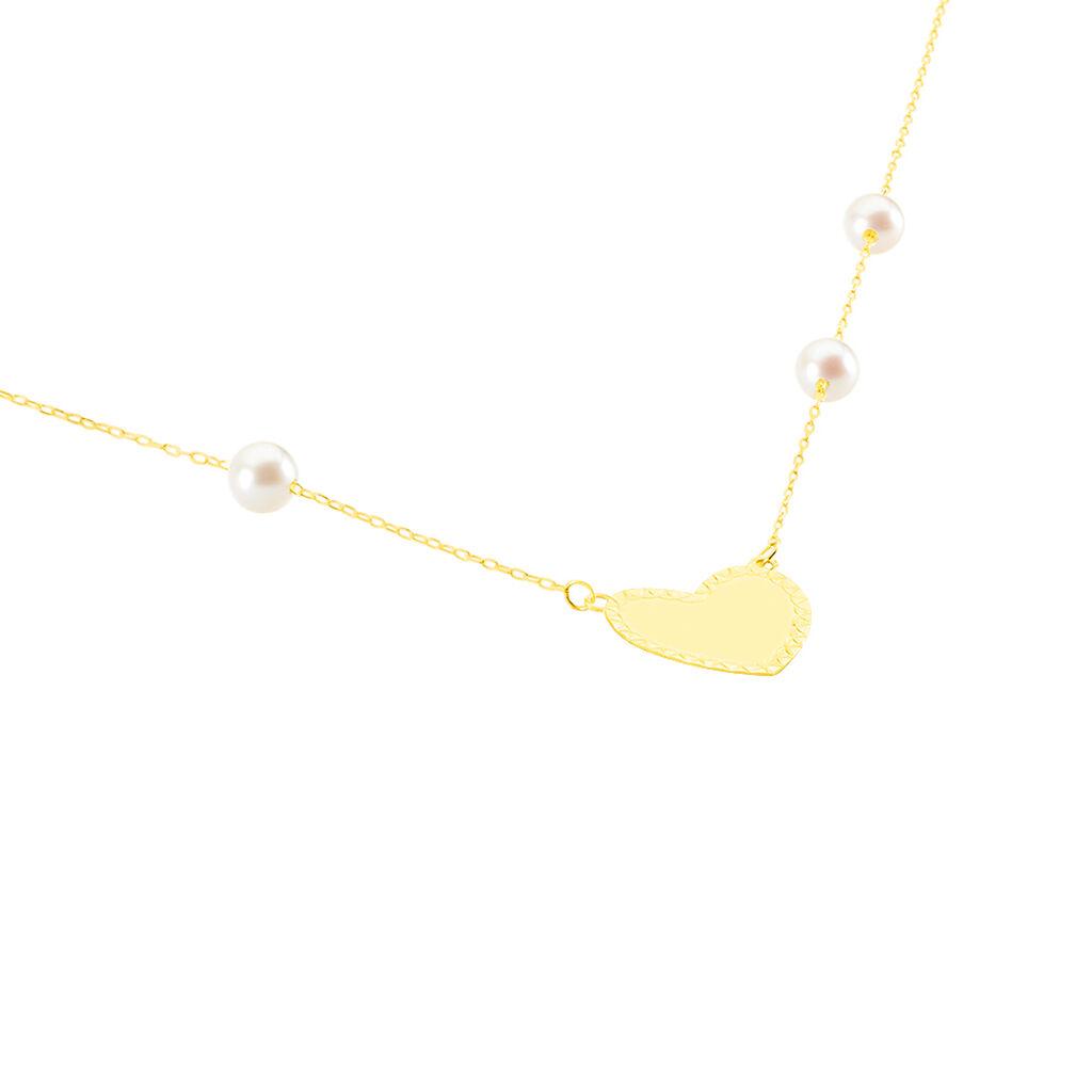 Collier Jalal Or Jaune Perle De Culture - Colliers Coeur Femme | Histoire d'Or