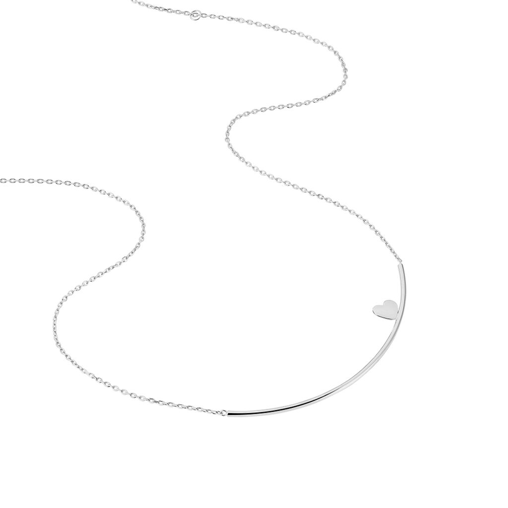 Collier Coralina Argent Blanc - Colliers Coeur Femme | Histoire d'Or