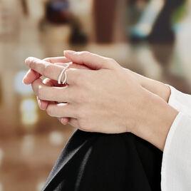 Bague Or Blanc Diamants - Bagues avec pierre Femme | Histoire d'Or