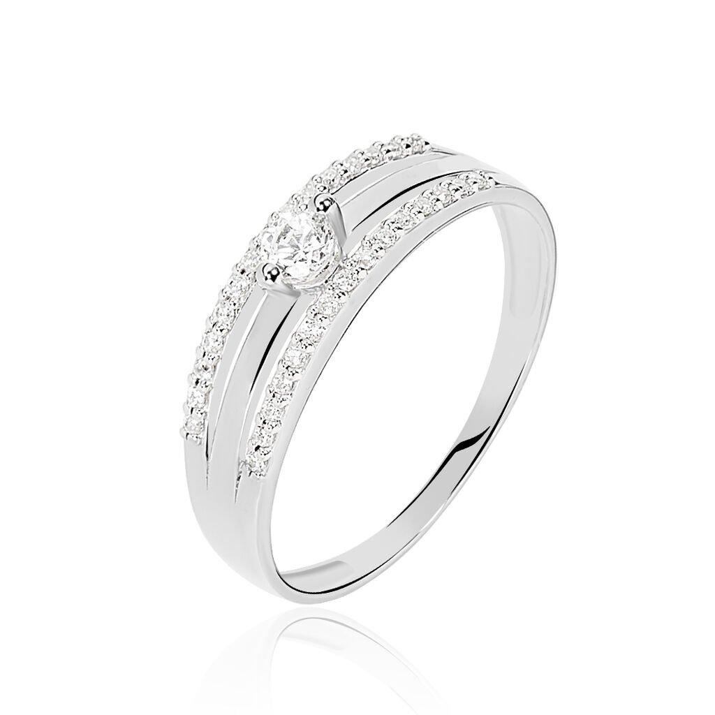 Bague Solitaire Marie-adeline Or Blanc Diamant - Bagues solitaires Femme | Histoire d'Or