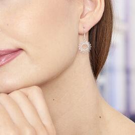 Boucles D'oreilles Pendantes Ombelline Argent Blanc - Boucles d'oreilles fantaisie Femme | Histoire d'Or