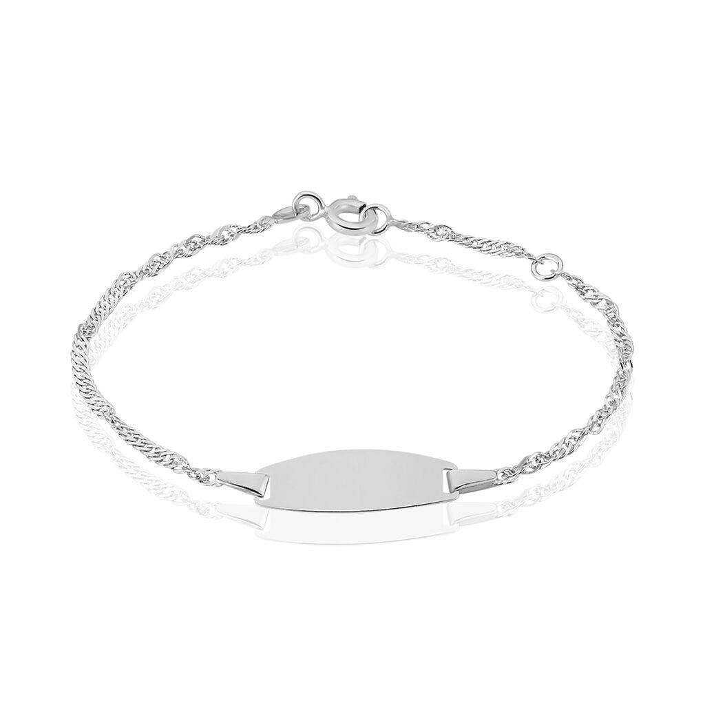 Bracelet Identité Ericka Maille Singapour Or Blanc - Bracelets Communion Enfant | Histoire d'Or