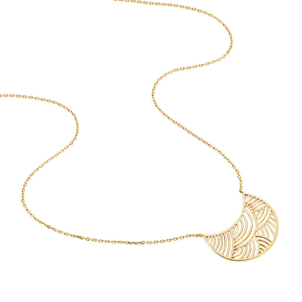Collier Freya Plaque Or Jaune - Colliers Lune Femme | Histoire d'Or