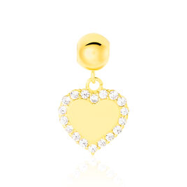 Charms Lelie Or Jaune Oxyde De Zirconium - Pendentifs Coeur Femme | Histoire d'Or