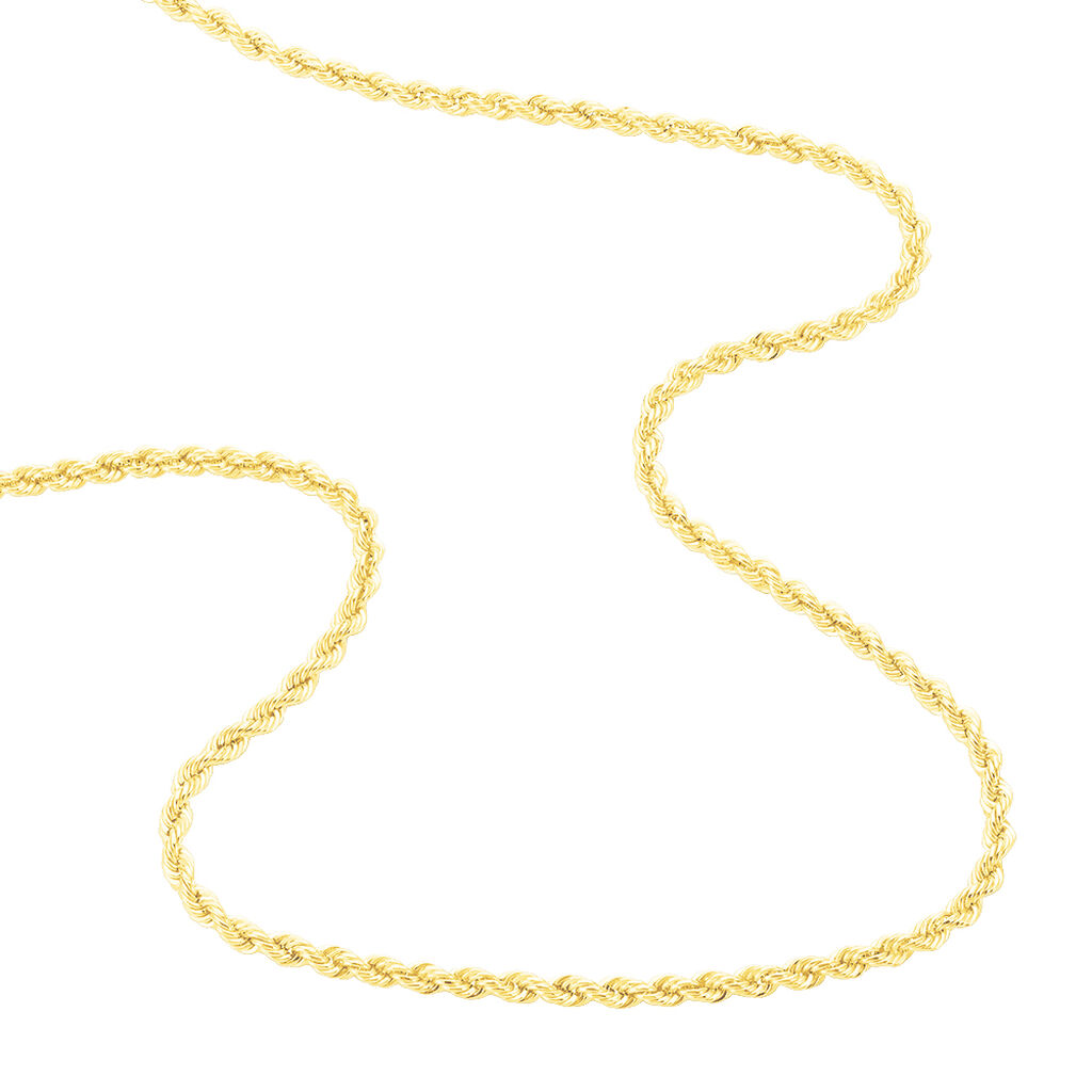 Collier Jerry Maille Corde Or Jaune - Chaines Femme | Histoire d'Or