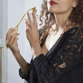 Bracelet Jonc Valery Argent Rose - Bracelets fantaisie Femme   Histoire d'Or
