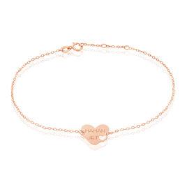 Bracelet Saren Or Rose - Bracelets Coeur Femme | Histoire d'Or
