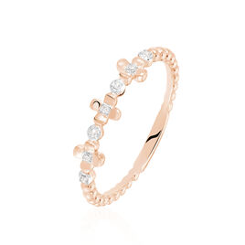 Bague Elvira Or Rose Diamant - Bagues avec pierre Femme | Histoire d'Or